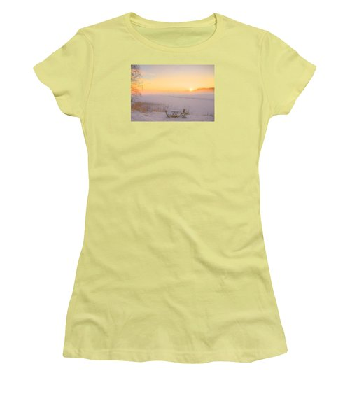 Women's T-Shirt (Junior Cut) featuring the painting When Joy Fills The Heart by Rose-Maries Pictures