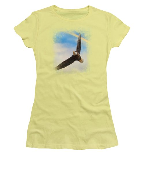 When My Wings Touch The Rainbow Women's T-Shirt (Junior Cut) by Jai Johnson