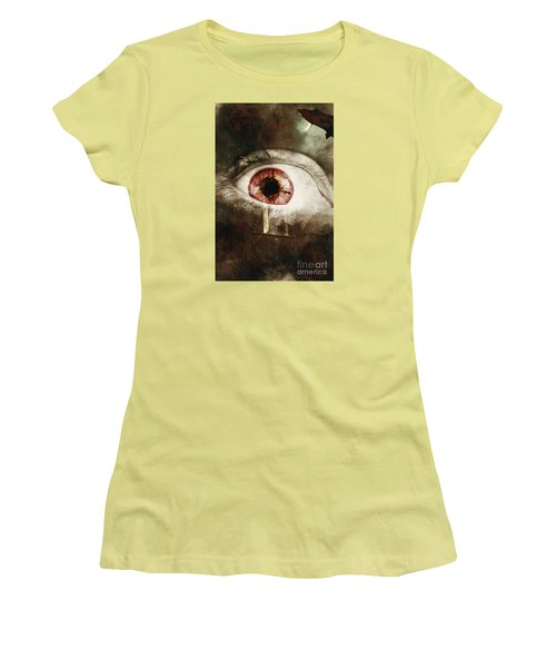 Women's T-Shirt (Athletic Fit) featuring the photograph When Souls Escape by Jorgo Photography - Wall Art Gallery