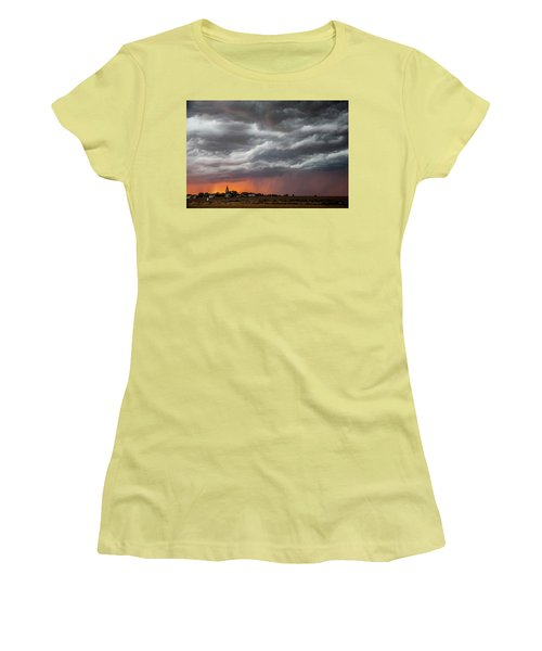 Women's T-Shirt (Junior Cut) featuring the photograph When Trouble Rises.....  by Shirley Heier