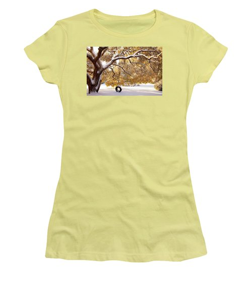 When Winter Blooms Women's T-Shirt (Junior Cut) by Karen Wiles
