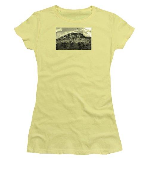 Where Eagle Dare-ii Women's T-Shirt (Junior Cut) by Manjot Singh Sachdeva