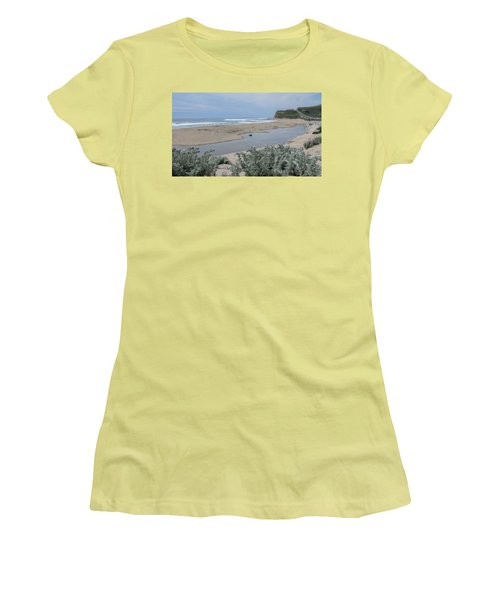 Where Scott Creek Meets The Ocean Women's T-Shirt (Athletic Fit)