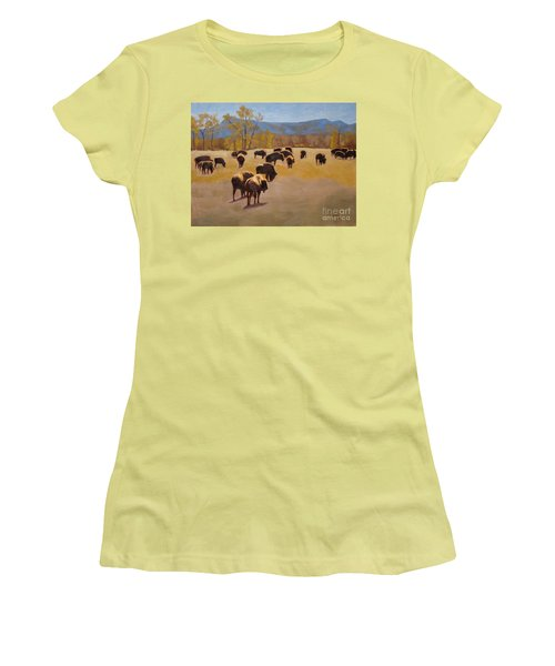 Where The Buffalo Roam Women's T-Shirt (Athletic Fit)