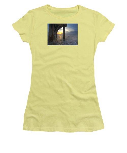 Where The Sand Meets The Surf Women's T-Shirt (Junior Cut) by Robert Och