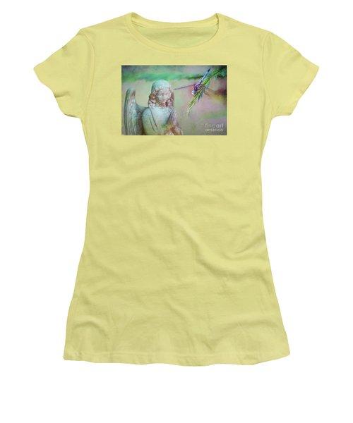 Whisper Of Angel Wings Women's T-Shirt (Junior Cut) by Bonnie Barry