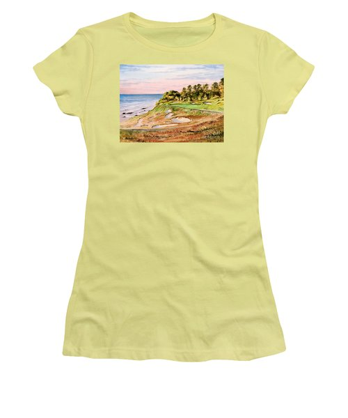 Whistling Straits Golf Course 17th Hole Women's T-Shirt (Junior Cut) by Bill Holkham