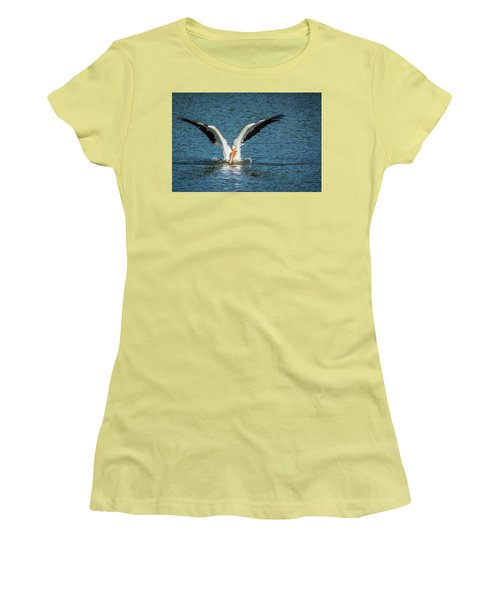 White American Pelican Women's T-Shirt (Athletic Fit)