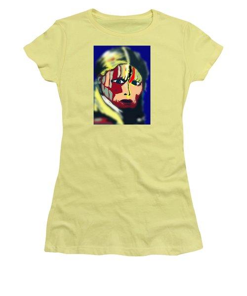 White Belly Sioux.1900. Popart Women's T-Shirt (Junior Cut) by Ayasha Loya