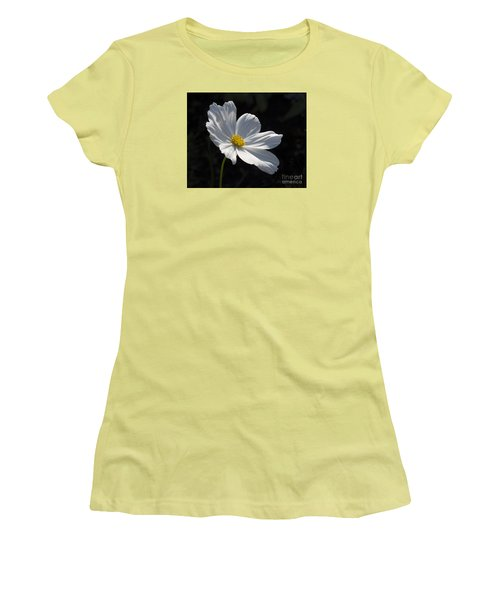 White Cosmos Women's T-Shirt (Athletic Fit)