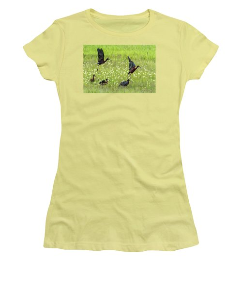White-faced Ibis Rising, No. 1 Women's T-Shirt (Athletic Fit)