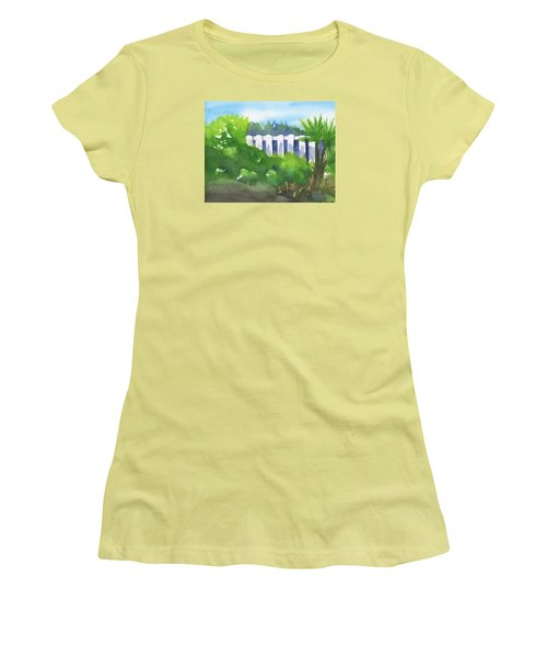 White Fence  Women's T-Shirt (Junior Cut) by Frank Bright
