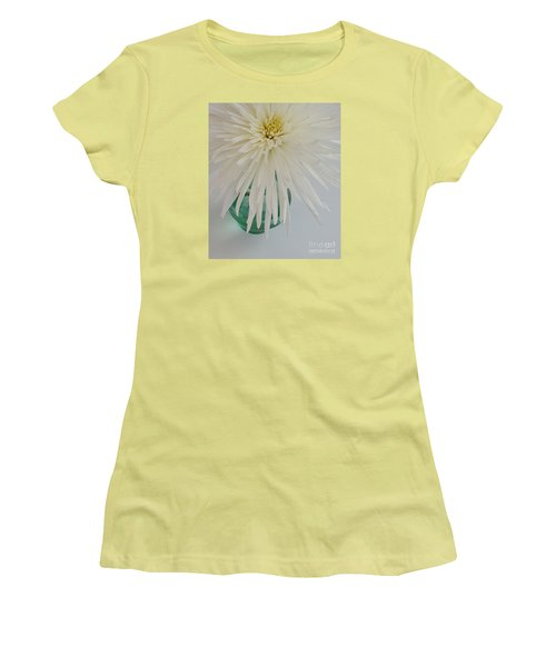 White Flower In A Vase By Jasna Gopic Women's T-Shirt (Junior Cut) by Jasna Gopic