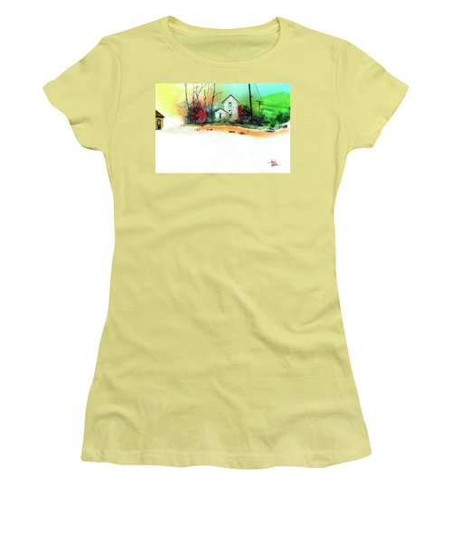 White Houses Women's T-Shirt (Junior Cut) by Anil Nene