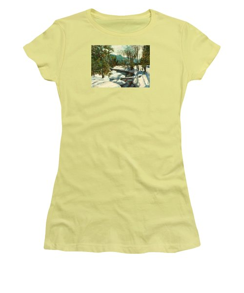 White Mountain Winter Creek Women's T-Shirt (Athletic Fit)