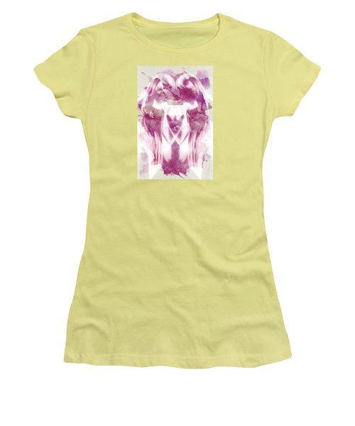 White Pi Flower Women's T-Shirt (Athletic Fit)