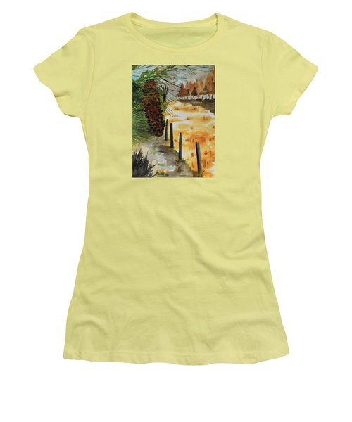 White Pine Cone Women's T-Shirt (Junior Cut) by Jack G  Brauer
