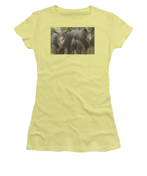 White Rhino Family - The Face That Only A Mother Could Love Women's T-Shirt (Athletic Fit)