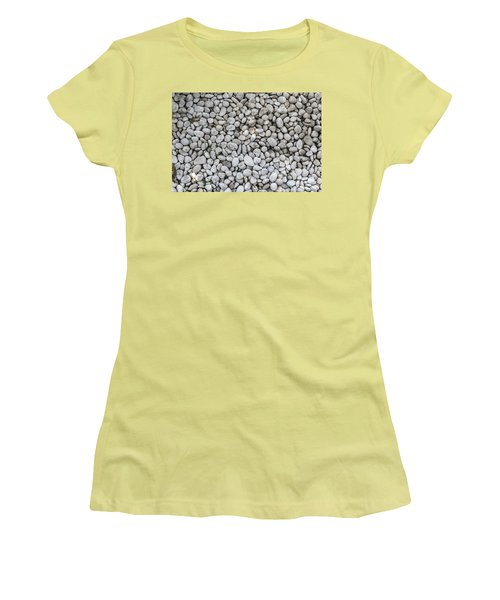 Women's T-Shirt (Junior Cut) featuring the photograph White Rocks Field by Jingjits Photography