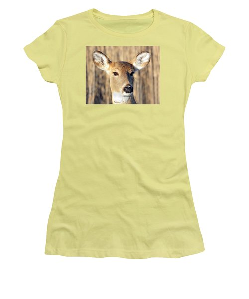White-tailed Deer Women's T-Shirt (Athletic Fit)