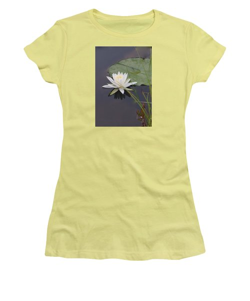 White Water Lotus Women's T-Shirt (Athletic Fit)