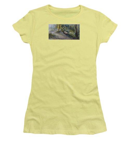 Whiteshell Trail Women's T-Shirt (Junior Cut) by Joanne Smoley