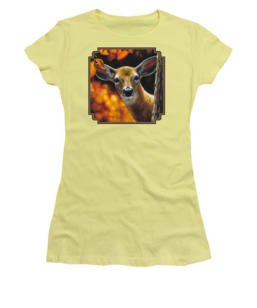 Whitetail Deer - Surprise Women's T-Shirt (Athletic Fit)