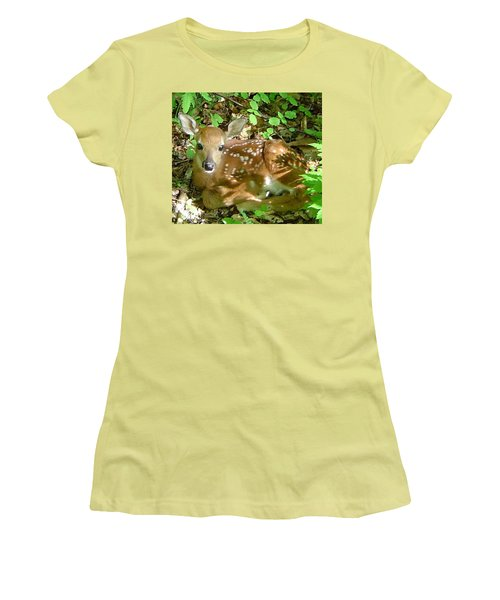 Whitetail Fawn II Women's T-Shirt (Athletic Fit)