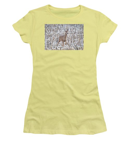 Whitetail In Frosted Corn 537 Women's T-Shirt (Athletic Fit)