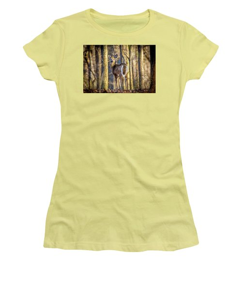 Whitetail Winter Morning Women's T-Shirt (Athletic Fit)