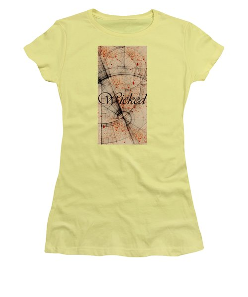 Women's T-Shirt (Junior Cut) featuring the digital art Wicked by Cynthia Powell