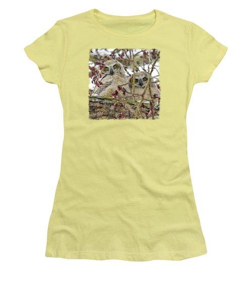 Wide-eyed Wonders Women's T-Shirt (Junior Cut) by Dee Cresswell