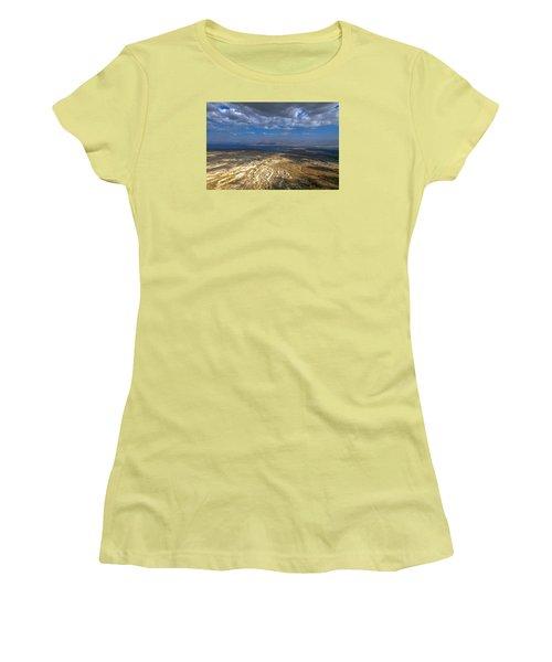 Wide View From Masada Women's T-Shirt (Junior Cut) by Dubi Roman