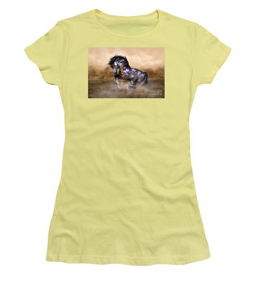 Wild And Free Horse Art Women's T-Shirt (Junior Cut) by Shanina Conway