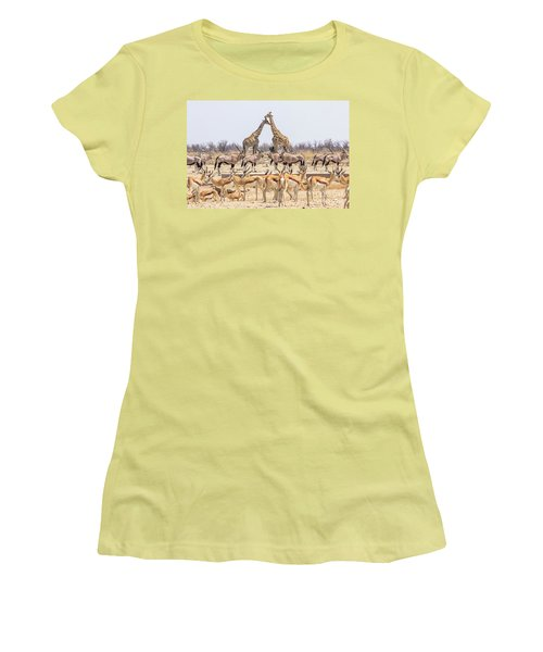 Wild Animals Pyramid Women's T-Shirt (Athletic Fit)