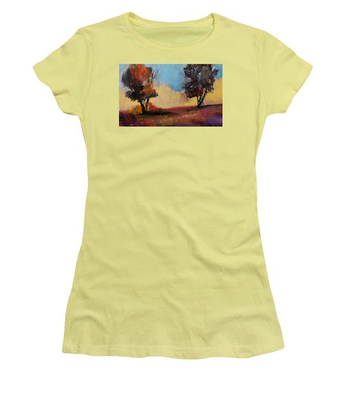 Wild Beautiful Places Trees Landscape Women's T-Shirt (Junior Cut) by Michele Carter