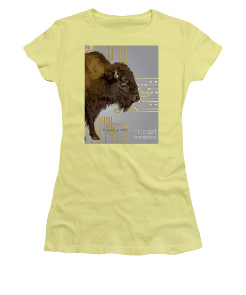 The American Buffalo Women's T-Shirt (Athletic Fit)