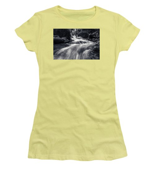wild creek in Harz, Germany Women's T-Shirt (Junior Cut) by Andreas Levi