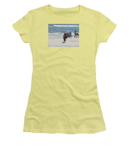 Wild Horses Women's T-Shirt (Junior Cut) by Helen Haw
