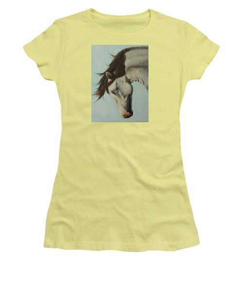 Women's T-Shirt (Junior Cut) featuring the painting Wild Thing by Jane See
