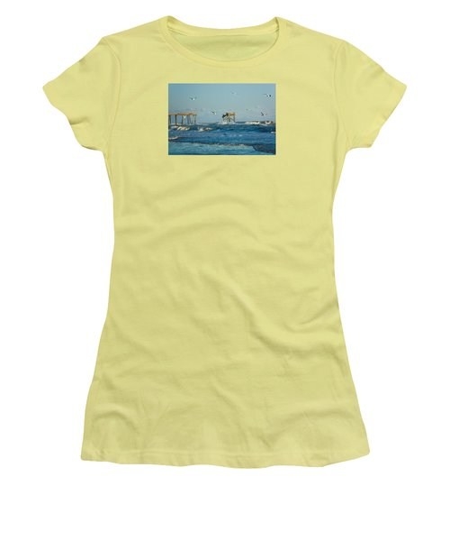Wild Waves At Nags Head Women's T-Shirt (Athletic Fit)