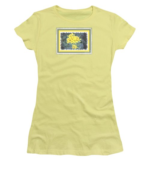 Women's T-Shirt (Junior Cut) featuring the photograph Wild Yellow Weed by Shirley Moravec