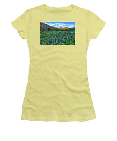 Women's T-Shirt (Junior Cut) featuring the photograph Wildflower Park by Scott Mahon