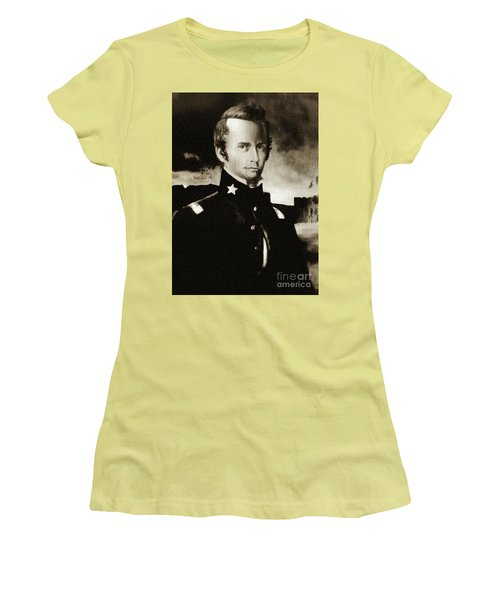 William B Travis - The Alamo Women's T-Shirt (Junior Cut) by Ian Gledhill