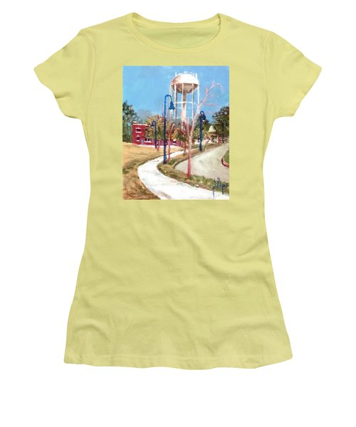 Women's T-Shirt (Junior Cut) featuring the painting Willingham Park by Jim Phillips