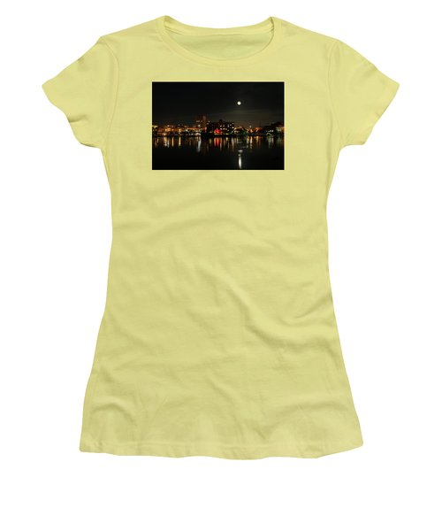 Wilmington Nc At Night Women's T-Shirt (Junior Cut) by Denis Lemay