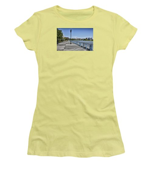 Wilmington Riverwalk - Delaware Women's T-Shirt (Junior Cut) by Brendan Reals
