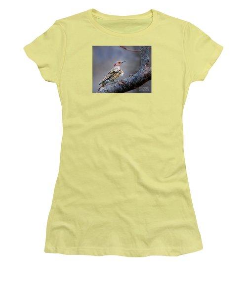 Women's T-Shirt (Junior Cut) featuring the photograph Wind Blown Flicker by Nava Thompson