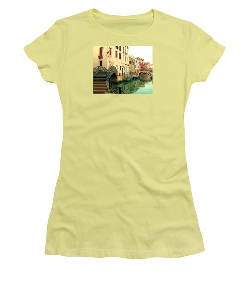 Winding Through The Watery Streets Of Venice Women's T-Shirt (Junior Cut) by Barbie Corbett-Newmin