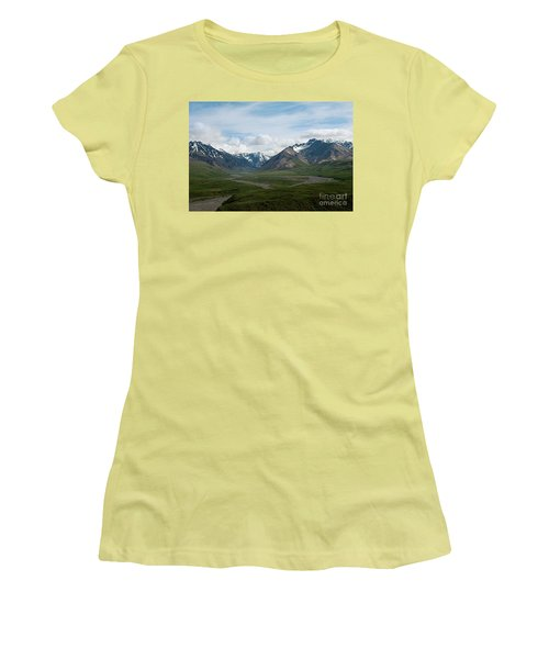 Winding Water Ways Women's T-Shirt (Athletic Fit)